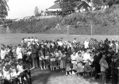Sportplatzeinweihung 1981